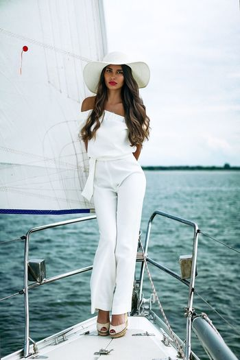 Yacht Girl Water Portrait