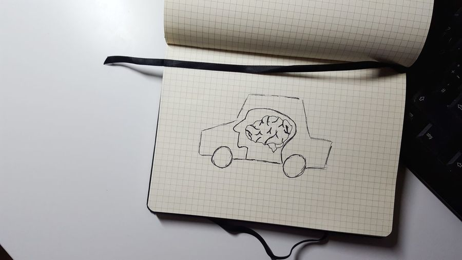 Future Autonomous Autonomous Driving Car Future Car Ai Artificial Intelligence Ki Computer Computer Car Brain Intelligent Car Mobilty Future Mobility Tomorrow Humanlike Think Intelligent Note Scetch Notebook