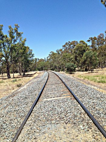 Random train line photo Camping Murrayriver Australiaday