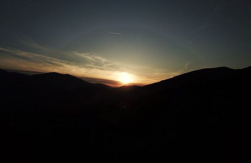 Sunset, Molise Italy Aerial Sky Beauty In Nature Scenics - Nature Silhouette Tranquil Scene Tranquility Sunset