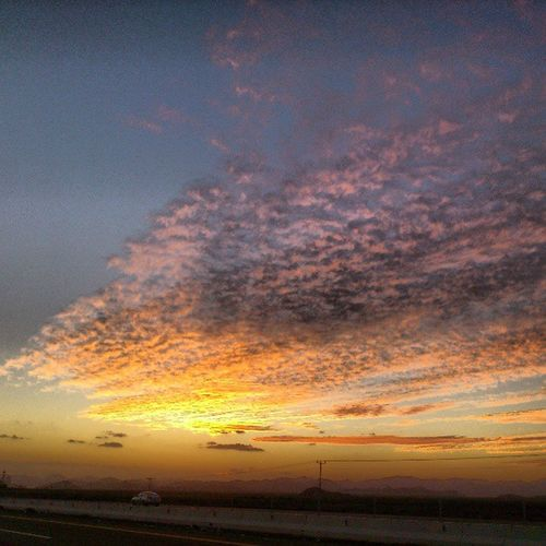 Beautiful Sunset at the Travel Road from jeddah to madina madinah saudi_arabia saudi arabia جدة المدينة المنورة