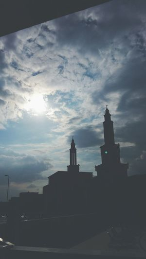 Cloud - Sky Silhouette Sunlight Sunset Sun Taking Pictures Day Outdoors Photograpghy  Outside Photography Mosque Sunday Afternoon Sun Is Up Stayblessed Staying Outside