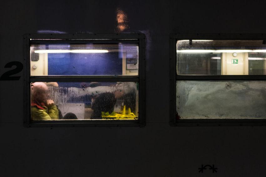 Solitary train Alone Dark Loneliness Behindtheglass  Night Streetphotography Train Windows