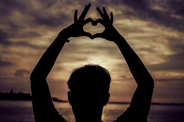 love symbol Cinematic Fine Art Photography Inspired Love Motivation Pattaya Thailand Shadows & Lights Silhouette Book Cover Design Heart Shape Human Hand Lifestyle Photography Storytelling Photos Sunset