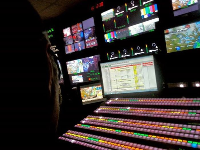 Another day at the office. Live LiveTV Broadcast Television Technical Production News Bellmedia Cp24news ControlRoom Tvstation Toronto Ontario Canada Stressful Lovemyjob Hectic Ross  Productionswitcher Newscrew Rrhurstphotography Latowphotographersguild
