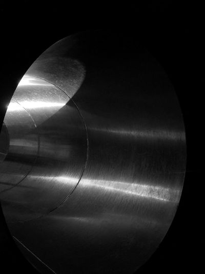 Light patterns on metal pipe Abstract Black & White Black And White Blackandwhite Me Pipe Reflection Shiny