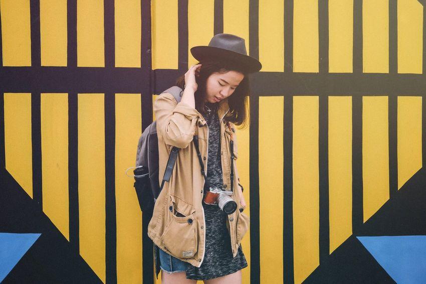 My friend Caroline. Street Portrait Streetphotography Fujifilm Streets Of Melbourne Xf35mmf2 Walking Around Portrait People Human FUJIFILM X-T10 Fujifilm_xseries Australia Fuji Light Leak Golden Hour Street Art Street Life Me, My Camera And I Lookslikefilm Moody