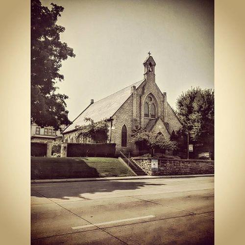 Local church in Atchison Kansas.... Ks_pride Atchison Kansasphotos Kansaschurch Church Religion Kansas