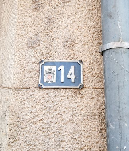 14 Number14 Day Outdoors Text Communication No People Architecture Close-up