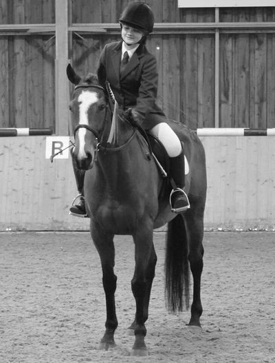 Ignore my face please Best Turned Out Thoroughbred Exracer Second Place