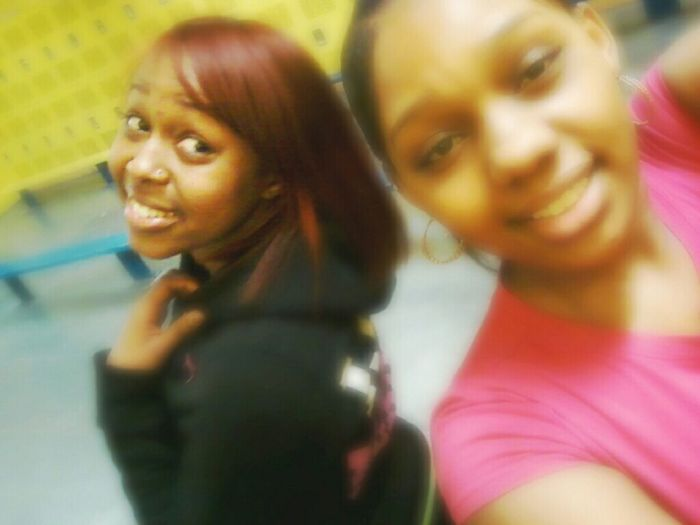 In gym with Heaven yesterday :)
