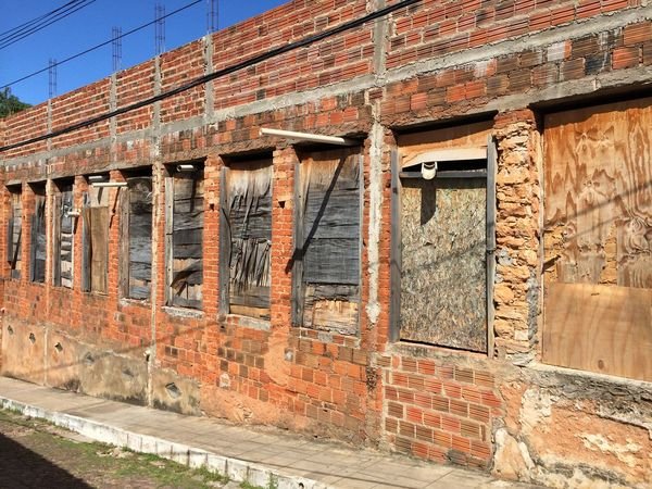 Abandoned Architecture Brick Wall Building Exterior Built Structure Construction Site Door Old Ruined Window