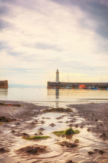@davidmilliganni Book Cover County Down Donaghadee Harbor Harbour Irish Sea Lifeboat Lighthouse No People Northern Ireland Peaceful Photographni Reflections Reflections In The Water Sea Seascape Seaweed Sunset Tidal Tranquility