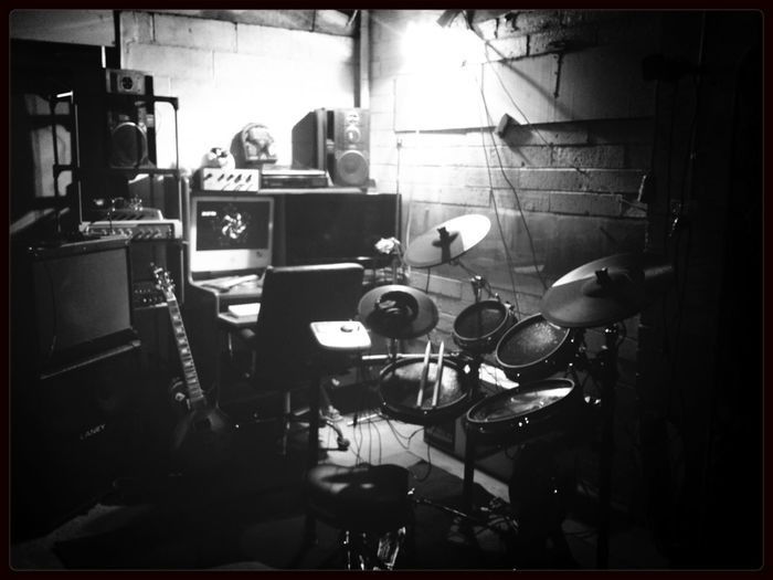 Finally the man cave lives! Man Cave Guitar Drums Edrums