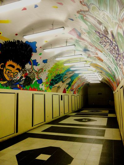 Multi Colored Eyeem Philippines Underpass UNDERPASS GRAPHITTI Underpasser Underpass Art Ceiling Art No People Architecture The Architect - 2017 EyeEm Awards The Great Outdoors - 2017 EyeEm Awards