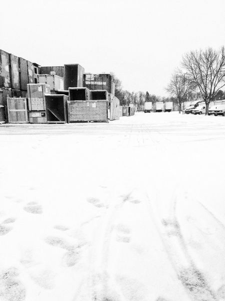 Snow Working Work It's Cold Outside Cold Trucks Warehouse Trailer