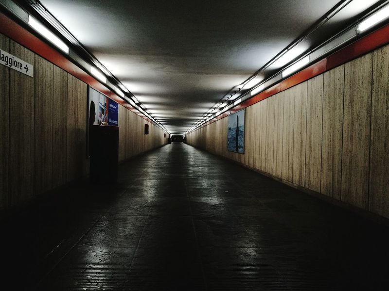 Underground Rome Italy Empty Corridor Endless Corridor Indoors  No People