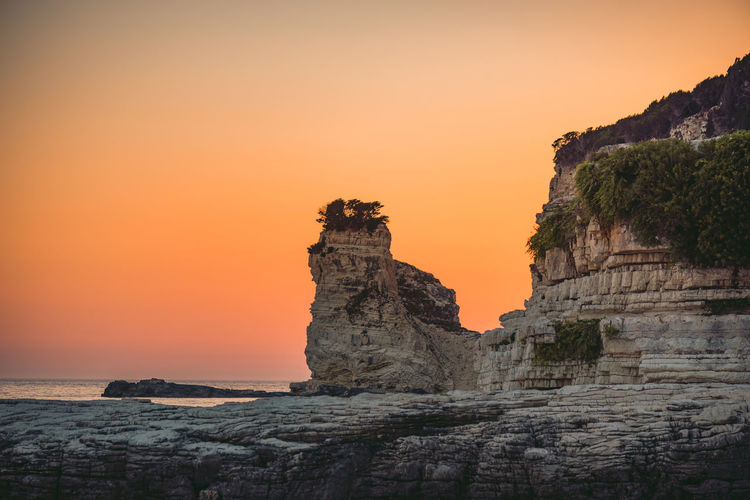 Lost In The Landscape Beauty In Nature Day Horizon Over Water Nature No People Outdoors Rock - Object Rock Formation Scenics Sea Sky Sunset Tranquil Scene Tranquility Travel Destinations