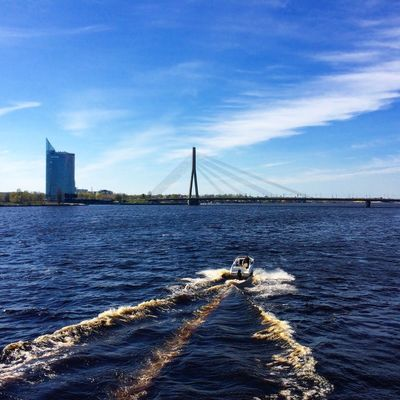 Built Structure Riga Latvia Water Sun ☀ City Beautiful Spring