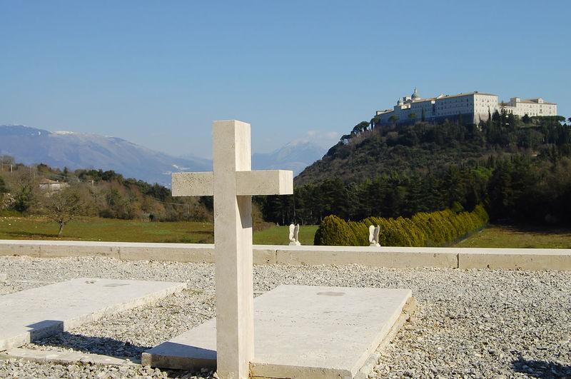Polish WWII Cemetary - Monte Cassino - Italy Cemetery Crosses Memorial Monte Cassino WWII WWII Cemetery Italy Polish White Cross