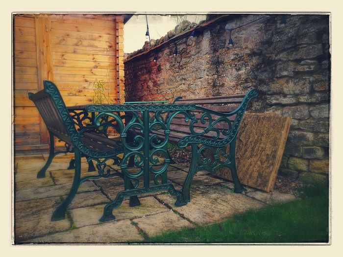 Table And Bench No People Day Outdoors Gothic Style Check This Out