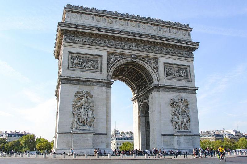 Arc de triomphe against sky