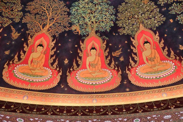 Close-up of buddha sculpture