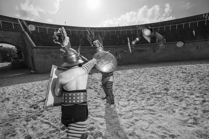 Adult Ancient Antique Colosseo Colosseum Fight History Lifestyle Men People Roma Rome Rome Italy Sport Two People
