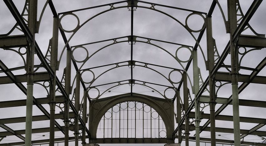 Industry Skeleton Arch Architecture Built Structure Hall Metal Structure Pattern City