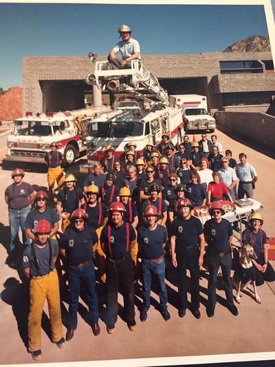 That's me front row, 2nd from the right in 1986. I was a new fire department Captain and a fairly new Paramedic. We were opening a new fire station in Sedona, AZ that day. From a long time ago when I actually made a difference when people were in trouble. Sometimes a big difference. I miss making a difference. Obviously, I didn't take this photo. I found this posted on a Facebook site today. I was very surprised! fiffFire iffFire Department eSSSedona aPPParamedic iffFire Station sSafety aMMMaking A Difference rPPProud abbBack In The Day 9111986 httThats Me  httThats Me ♥ rggGroup Of People uppPublic iffFire Service eddDedication eHHHelping Freedom ollLong Time Ago essSedona, Az eMMMemories Fun Thats Me  City Throwback