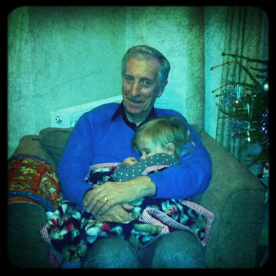 Amalie loves her Grandpa.