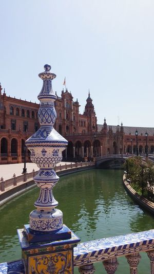 Water Travel Destinations Vacations Tourism Outdoors Fountain Building Exterior Architecture Day Seville,spain History Built Structure Architectural Column Façade