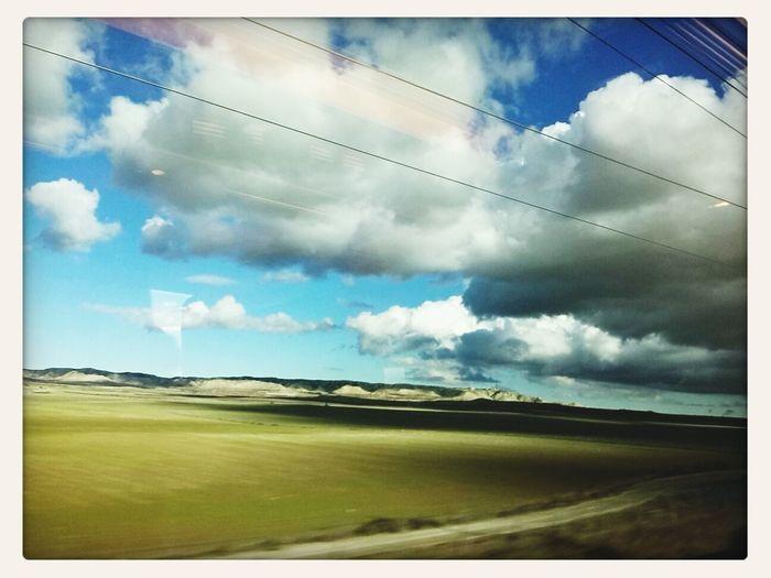 paisajes desde el tren Taking Photos Skyporn Clouds And Sky Traveling