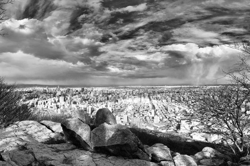 Unreal - Panorama Stitched Panorama Bad Weather Blackandwhite Force Of Nature Surreal Tornado Hurricane Ominous Weather Mountain Cloud - Sky Sky Beauty In Nature Nature Land Visual Creativity