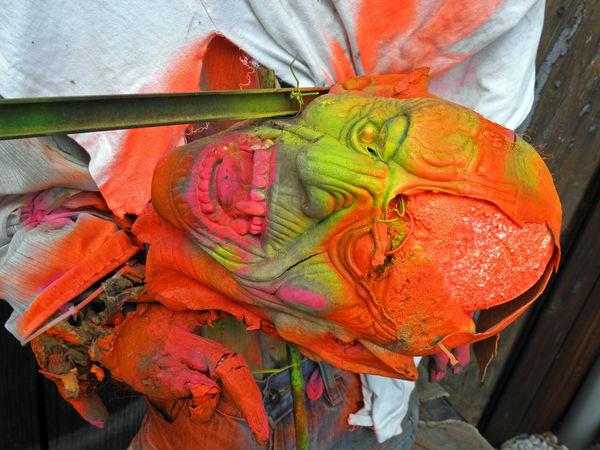 Halloween's fancy scary art instalation,Zagreb,Croatia,Europe,9 Art Art Instalation ArtWork City Colourful Craftmanship Creativity Croatia Eu Europe Fancy Halloween Horror Monster Multi Colored Picturesque Scary Skull Skull-head Zagreb