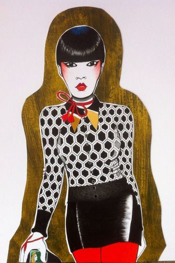 Japanese  Model Fashion Fashion&love&beauty Catwalk Fashionillustration Art Popart Genskiart Drawing