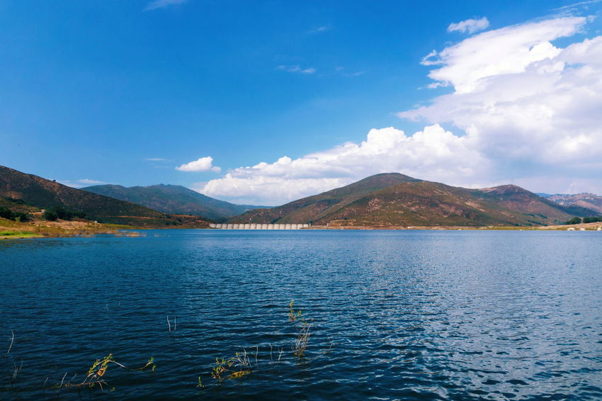 Mountain Lake Mountain Range Landscape Scenics Nature Outdoors Tranquility Blue No People Beauty In Nature Sky Cloud - Sky Water Day Clouds Clouds And Sky