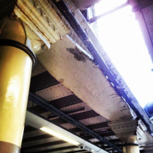 Pillars Neoclassicalpillars Cutandcover Underground londonunderground londonundergroundstation surreyquaysstation girders selondon selondonforever