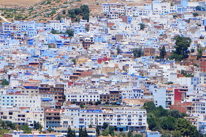 Beautiful City Morocco North Africa Road Sightseeing Travel View Vivid Africa Architecture Blue Building Chaouen Chefchaouen Color Community Fancy Historical Outdoors Town Traditional Vacation World