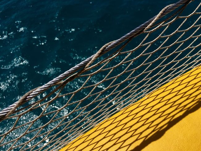 Blue Color Color Block Background Backgrounds Blue Close-up Colorblocking Contrast Nautical Vessel Net No People Outdoors Pattern Sea Water Yellow Yellow Color The Week On EyeEm Mix Yourself A Good Time Paint The Town Yellow