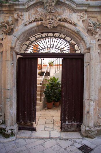 Entrance of closed door