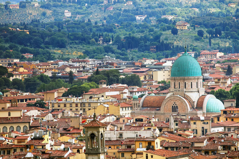 High angle view of tuscany townscape