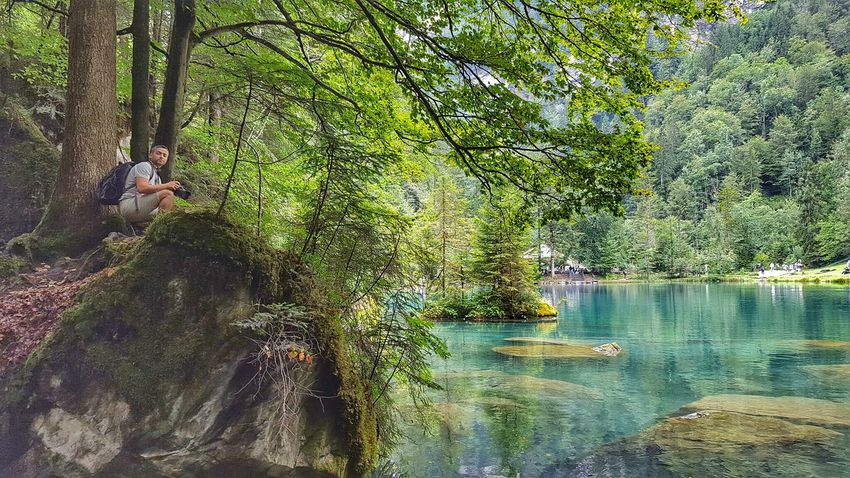 Colour Of Life That's Me Hello World Lake Lake View Lakeshore Landscape_Collection Water Reflections Water Blausee Blue Water Lakeside Lakeview Switzerland Nature Photography Nature_collection Naturephotography Water_collection Waterscape Natural Beauty Nature Lover Swiss Photos Landscape_photography Shot On Galaxy Edge 6