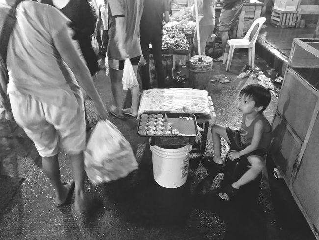 Kidseller Live Love Shop Pulvoron Sittingkid Kid Child Boy Littleboy Foodseller