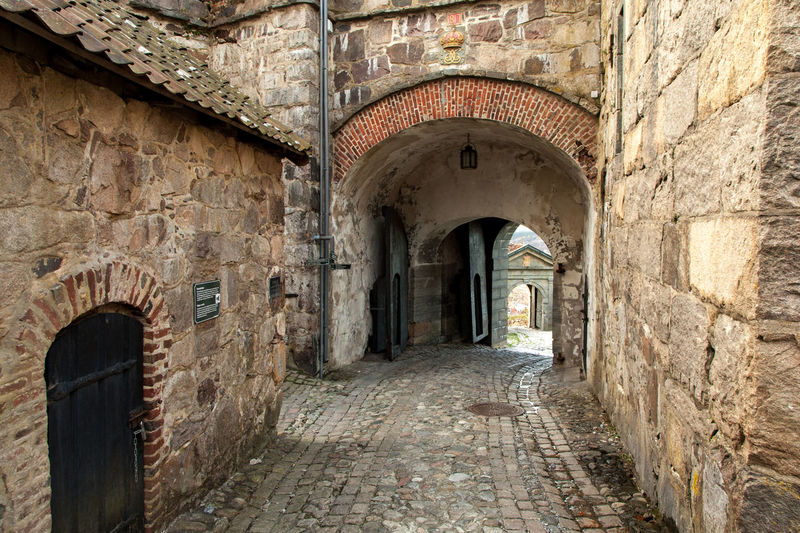 Fredriksten Alley Arch Architecture Brick Wall Built Structure Corridor Halden Historic History Narrow No People Norway Old Stone Wall