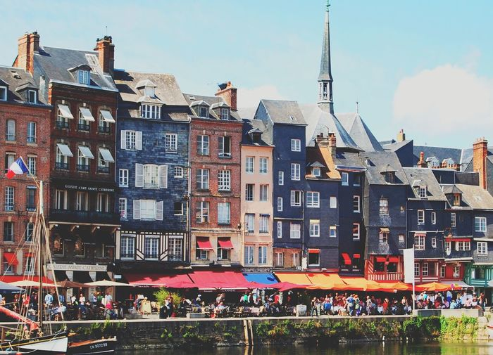 Landscape Summer Colorful France City Travel Destinations Outdoors Architecture Cityscape Building Exterior Sky Urban Skyline No People Day Honfleur Waterfront Landscapes Nautical Vessel Travel Photography Coast International Landmark Historic Window Box Countryside Famous Place Building Story Wide Shot Skyline City Location Infrastructure