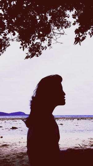 Girly Silhouette Sea Sunset Nature Beauty In Nature Outdoors Sky People Portrait Beach Beauty Tree Shadow Light And Shadows Playwithshadows EyeEmNewHere Shiluette Postthepeople