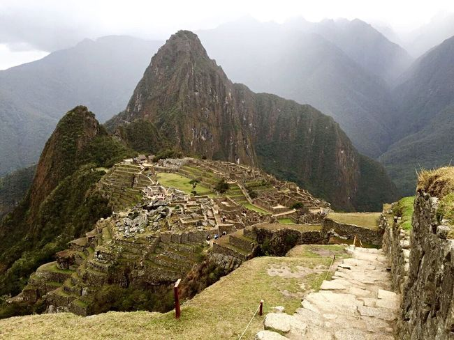 A Bird's Eye View Machu Picchu Peru World Wonder Landmarks Ancient Ruins Ancient City Top Of The Mountain Rocks Plants Pathway Hike Travel My Favorite Place Ice Age Stones Path In Nature Walkway Scenics Scenery Greens My Favourite Place