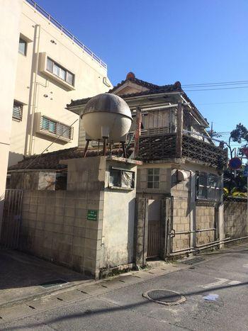 丸い水タンクの家 Architecture Streetphotography Naha Okinawa