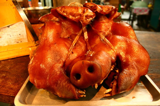 No People Close-up Indoors  Food Animal Themes Day Freshness Mammal Pig Head หัวหมู Thailand